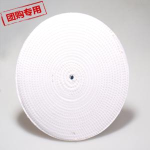 厂家直供打磨抛光麻轮白色麻布轮磨具现货抛光轮