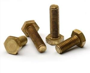 DIN93铜外六角螺栓 铜外六角螺钉铜外六角螺丝钉