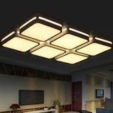 玫瑰灯饰 格子款LED客厅大气调光吸顶灯卧室照明