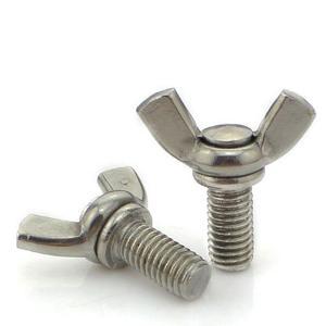 厂家直销304不锈钢 蝶形螺栓螺栓羊角手拧螺丝钉子