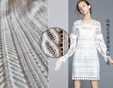 高档立体刺绣镂空 重磅水溶蕾丝布料 服装面料布料