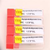 台湾正品YHM铝用钨钢刀铣刀 1.0*3F*50L