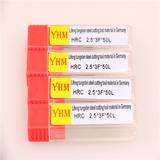 台湾正品YHM铝用钨钢刀铣刀 2.5*3F*50L