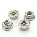 304不锈钢法兰面防滑螺母