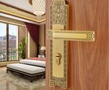 中式室内门锁 仿古卧室房门执手机械锁