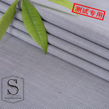 (测试专用)黑色小条纹制服竹纤维面料