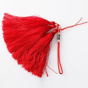 红色流苏纯手工编织扇坠吊穗 发簪吊穗