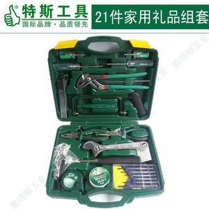 特斯工具五金工具箱21件套家用手动工具008821
