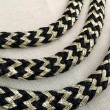 锐发 黑伴金葱线金伴黑圆绳pvc线编织头饰吊牌绳