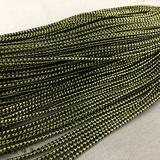 锐发 黑伴金银葱线编织带pvc线头饰吊牌绳包装绳