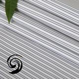 纯棉灰色条纹抗皱面料【T55-1587】