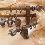窗帘杆厂家直销铝合金罗马杆 窗帘杆装饰头