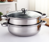 不锈钢二层两多用锅双层微商点赞礼赠品多功能煮火锅蒸