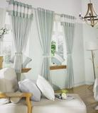 高档棉麻窗帘成品纯色亚麻布客厅卧室酒店宾馆落地窗