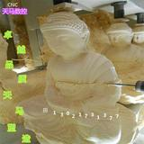 木雕圆形挂件 竹筒木筒佛像精细雕刻 浮雕雕刻切割机