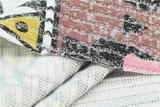 秋冬幻彩罗纹BR204女装面料 时尚几何印花 针织