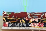 秋冬蛇纹布3HA女装面料 时尚新品水墨花朵印花 针