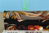 秋冬蛇纹布4HA女装面料 时尚新品水墨花朵印花