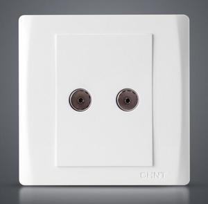 正泰墙壁插座 7V灵动系列 双电视插座