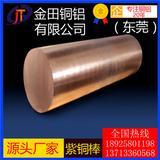 T6国标紫铜棒 锻打紫铜 C10200磷脱氧铜棒