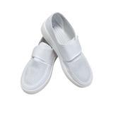防静电鞋防尘鞋 工厂无尘车间帆布网面透气鞋 魔术贴