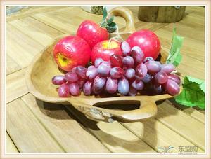 印尼 柚木果盘 纯柚木果盘干果盘 手工雕刻 0207303