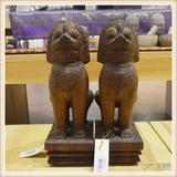 柬埔寨 手工雕小武哥狮子工艺品 工艺品摆件 0203659