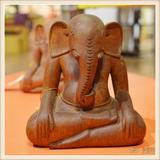 柬埔寨手工雕象头神工艺品 书房办公室会议厅装饰品 0204696