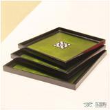 越南 镶贝壳方形托盘三件套 工艺品摆件 0203066
