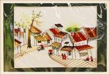 越南 成品挂画手工刺绣精品挂画带框刺绣画 0201503
