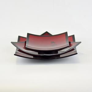 越南 福禄寿方形碟三件套  0203042