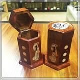 越南  实木镶贝壳牙签盒 0204241