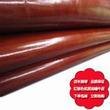厂家特卖高档红棕色头层油蜡水牛皮真皮皮料售完即止