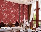 沃卡菲纱线刺绣  新中式花鸟刺绣高精密无缝墙布
