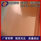 国标TU2无氧铜板 覆膜T6超薄紫铜板 深圳锻打T2紫铜块