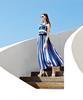 蓝白条纹装夏日走俏搭配 穿出属于你的style