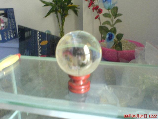 110mm不打孔水晶球图片一