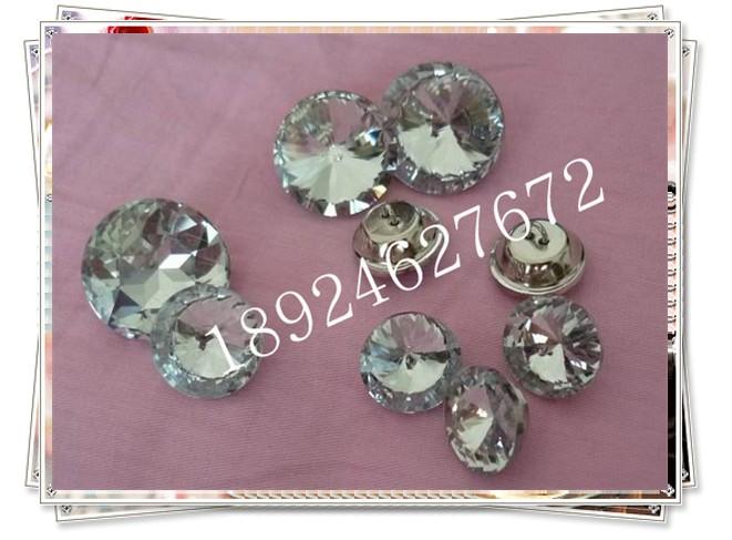 水晶沙发扣 水晶纽扣后盖 沙发扣筒盖图片五
