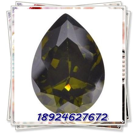 厂家直销橄榄色水滴宝石图片一