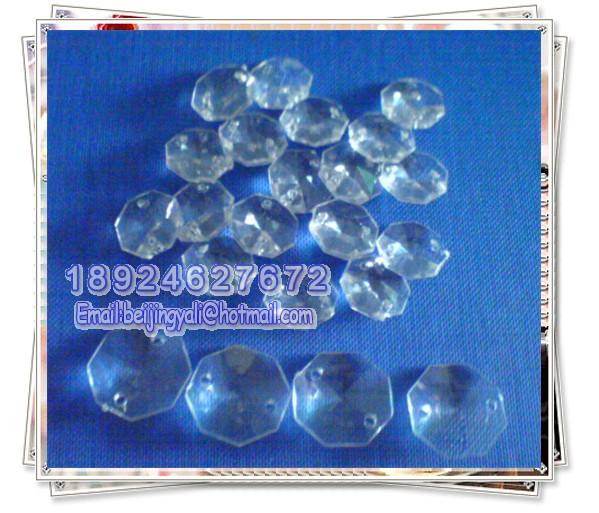 厂家直销双孔八角珠,14#八角珠,压克力珠、玻璃珠图片二