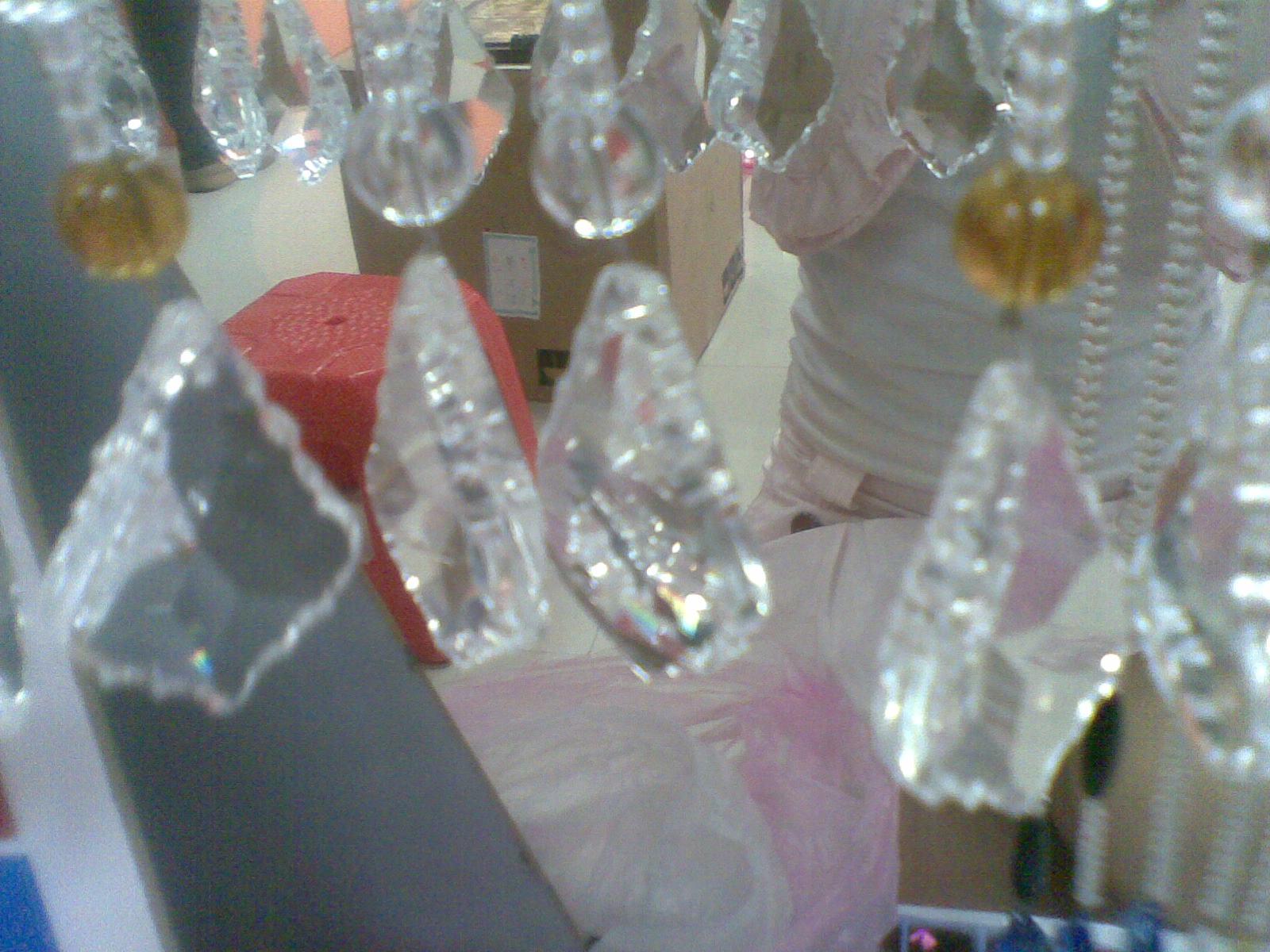 白色珠帘,刻面球珠,菠萝珠图片二