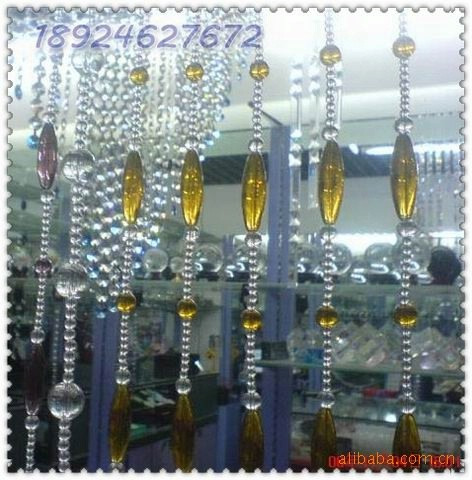 加工定做水晶珠帘、压克力珠帘,厂家直销各种塑料连线珠帘、线帘图片二