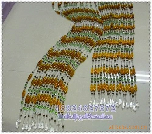 加工定做水晶珠帘、压克力珠帘,厂家直销各种塑料连线珠帘、线帘图片四